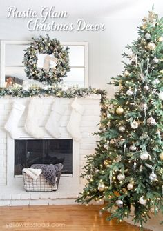Rustic-Glam-Christmas-Decor.jpg (700×996)
