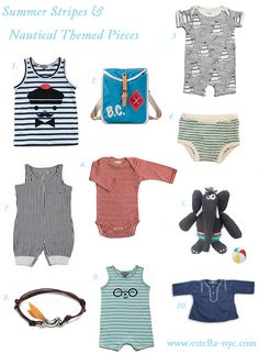 Nautical inspired baby clothes