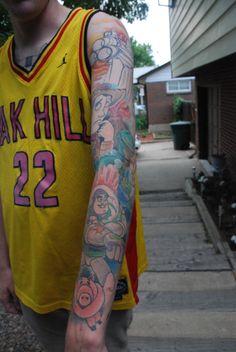 Toy Story Tattoo Sleeve 8531 Santa Monica Blvd West Hollywood, CA 90069 – Call o… Disney Tattoo – Top Fashion Tattoos Think Tattoo, Make Tattoo, I Tattoo, Tatuaje Toy Story, Tattoos For Guys, Cool Tattoos, Awesome Tattoos, Toy Story Tattoo, Santa Monica Blvd