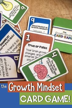 The Growth Mindset Card Game: teach your students and counseling clients how to build their growth mindset!