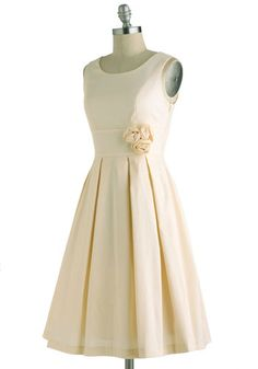 A Lighter Shade of Peach Dress, #ModCloth, only with slightly lower neck line and cap sleeves!