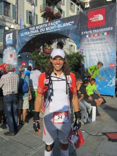 David Kadunc right after the finish of Ultra Trail du Mont Blanc 2013