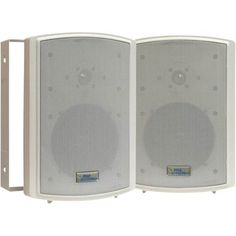 Pyle Home PDWR6T 6.5-Inch Indoor/Outdoor Waterproof Speakers with 50-Watt 70V Transformer (Pair) by Pyle. $95.50. These white Pyle indoor/outdoor waterproof speakers are excellent for use on boats, decks, patios, or by the pool – anywhere outdoors. And they're compatible with 70 V PA systems – this model includes built-in transformer tappable at 12.5, 25, and 50 watts. They're completely waterproof, thanks to the rugged plastic enclosure. And they're powerful...
