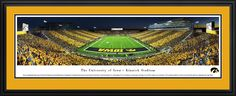 Iowa Hawkeyes Panoramic Picture - Kinnick Stadium Football Panorama - Deluxe Frame $199.95