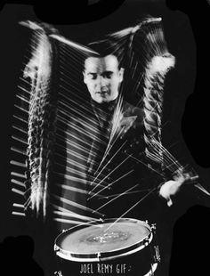 Gjon Mili - Gene Krupa playing Drum - 1941