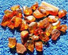 Honey Cognac Butterscotch Natural Baltic Amber Polished Stone bead 20 gr 老琥珀