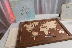 Lets get lost guestbook. Nassau Valley Vineyard Delaware Wedding. Laura's Focus Photography.