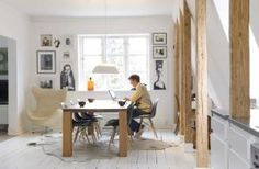 I found that Copenhagen house through Living Agency . Home Furniture, Modern Furniture, Monochromatic Decor, Nordic Chic, Modern Interior, Interior Design, Attic Apartment, Dining Room Design, Dining Rooms