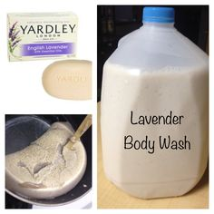 Yardly London Lavender Scented Body Wash with fresh lavender!