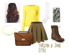 """""""Tarzan & Jane Style"""" by brookeanaking ❤ liked on Polyvore featuring Carven, Doublju, Kate Spade, Refresh, Sonix and Dorothy Perkins"""