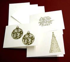 Weihnachtskarten - 2013 -Weihnachtskarten 3erSet-1 - ein Designerstück von paperfun bei DaWanda