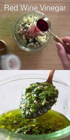 Chimichurri sauce is an easy condiment to make with fresh herbs. Make this recipe to serve for a delicious burst of flavor with steak, pork, chicken, salads, and more! #chimichurri #sauce #argentinian Healthy Salad Recipes, Real Food Recipes, Vegetarian Recipes, Yummy Food, Healthy Family Meals, Healthy Cooking, Cooking Tips, Cooking Recipes, Tasty Videos
