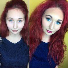 Oliwka :)) ten kolor włosów #makeup #makeuptutorial #makeuptutorial #makeupartist #girl #womens #instalike #instagood #instadaily #instalove #instalike #instagram #day #blueeyes #lips #red #nails #cosmetics #rude #brows #love #like4like #likeforlike #follow #black #red #photography #photo #selfie #poland #polandgirl #esteelauder