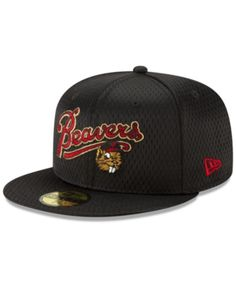 check out 4d3e8 1cf06 New Era Portland Beavers Batting Practice Mesh 59FIFTY-fitted Cap - Black 7  1 2