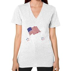 American Ninja Warrior V-Neck (on woman) Shirt