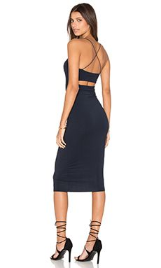 T by Alexander Wang Strappy Tank Dress in Navy