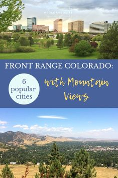 Have you ever considered a move to Colorado? We shared the top 6 cities that you can live in along the Front Range. If you're dreaming about living in the mountains, look no further! Colorado City, Visit Colorado, Colorado State University, Living In Colorado, Colorado Mountains, Rocky Mountains, Moving To Denver, Moving To Colorado, Mountain Living