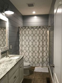 Kids Bathroom Remodel Shiplap Cut At Lowes Outdoor Lights From Shower