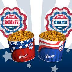 There's no debating great taste! Pick up a Garrett Election Popcorn Tin today! http://www.garrettpopcorn.com/election-tin/