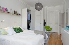 40 Small Bedroom Ideas to Make Your Home Look Bigger - http://freshome.com/30-small-bedrooms-ideas-to-make-your-home-look-bigger/
