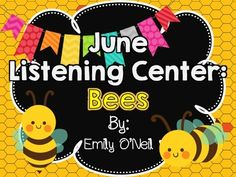 June Listening Center - Bees from EmilyO. from EmilyO. on TeachersNotebook.com (15 pages)  - This is a fantastic way to integrate safe technology into your center time! I have created this listening center based on the theme. There are three versions included.