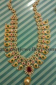 Jewellery Designs: Detachable Floral Mango Necklace