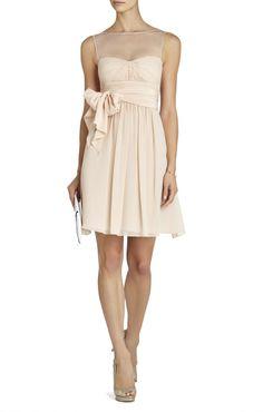 Sweet heart neckline fake out dress in cream