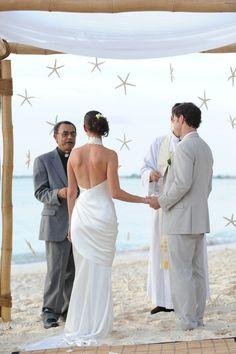 Starfish bamboo arch by Celebrations Ltd wedding.