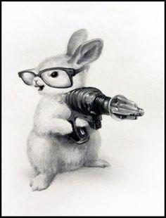 gun-totin' bunny (Xiau Fong)