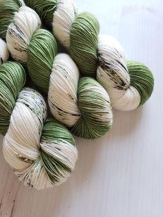 Hand Dyed Yarn 'Woodsy Twist' - Sock Weight Variegated Speckled Yarn - of Merino/Ny Yarn Inspiration, Yarn Wall Hanging, Yarn Stash, Sock Yarn, Hand Dyed Yarn, Loom Knitting, Yarn Colors, Yarn Crafts, Crochet Yarn