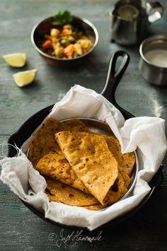 Roasted Butternut Squash and Kalonji Paratha