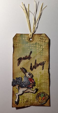 Special Delivery with Distress Ink Pad and Tim Holtz' Stencils