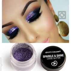 Get a fun glamorous bold look with these sparkle & shine loose glitters! Can be applied to eyeshadow makeup or any area to add a pop of sparkle. Color: Purple Brand: City Color