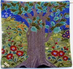 "Hand-hooked rug  ""Tukirsh Tree"""