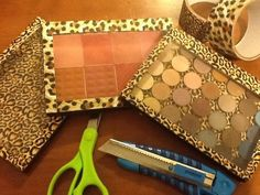 My $1 DIY Z Palette Dollar Tree Duct Tape & a DVD case. Save $24! plus the DVD case snaps shut compared to a regular Z palette that doesn't.