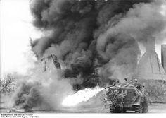 Sd.Kfz. 251/16 Flammpanzerwagen in action.