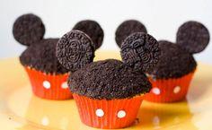 Unos divertidos cupcakes de Mickey Mouse #cocina #creativa #kitchen