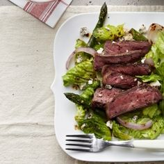 Grilled Steak and Asparagus Salad {omit cheese}