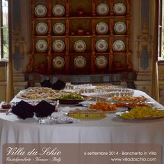 Matrimonio in Villa da Schio. Le foto delle pietanze del banchetto nuziale e la tavola dei dolci. Castelgomberto - Vicenza - Italy www.villadaschio.com