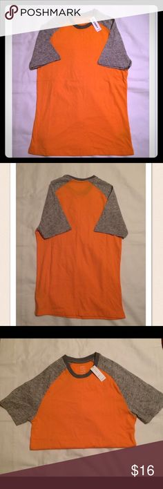 NWT Old Navy men's short sleeve raglan tee NWT men's Old Navy orange/gray raglan shirt size XS. Brand new with tags, never worn! Bought this for my son, but it was too small. Old Navy Shirts Tees - Short Sleeve