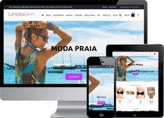 Loja Virtual #Magento com layout responsivo desenvolvida para a empresa Linda Sim, que é especializada em #moda atual #feminina, #masculina e #infantil.  #LojaVirtualMagento #ProgramadorMagento #DesenvolvedorMagento