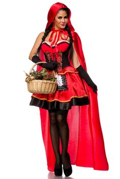 Sexy märchenhaftes Rotkäppchen kostüm Damen Halloween Karneval KostümKleid