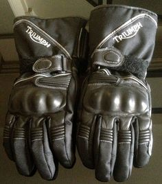 Ladies Triumph Motorcycle / Biker Armoured Gloves - Genuine - Size M / Teramid