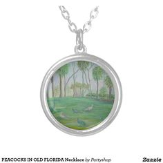 PEACOCKS IN OLD FLORIDA Necklace