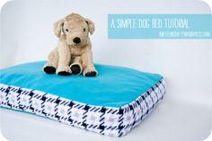 Simple Dog Bed Tutorial - Must make!! Super easy.