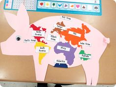 Great book to read about Chester the Pig and teaching continents!