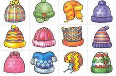 Hats for snowmen Card Games For Kids, Winter Activities For Kids, Winter Crafts For Kids, Winter Kids, Winter Theme, Preschool Crafts, Kindergarten, Clip Art, Facebook