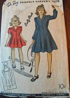 Sew Country Chick- Handmade Style: Vintage Little Girls Sewing Patterns