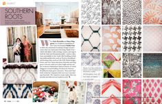 I just love this entire stylish page! Every fabric is amazing and I can think of so many ways to use it!