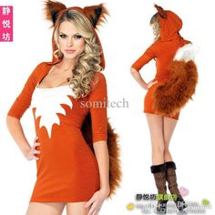 Wholesale Fox Halloween Costume Women Adult Clothes Queen Sexy Cosplay Animal…